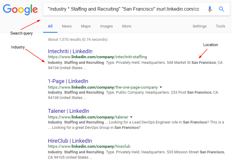 Recruiting - Google LinkedIn Search