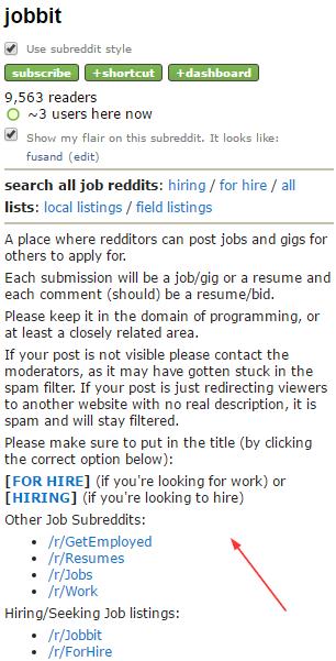 Hiring Subreddit Rules