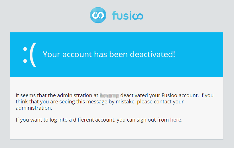 Deactivated user