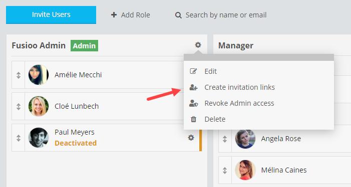 Invite Create Link