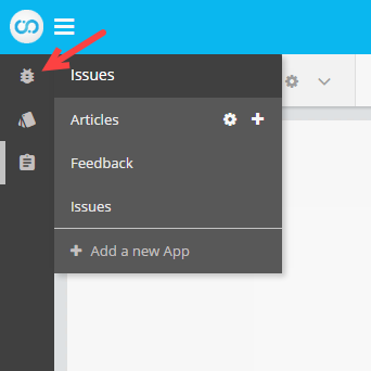 Icon in sidebar