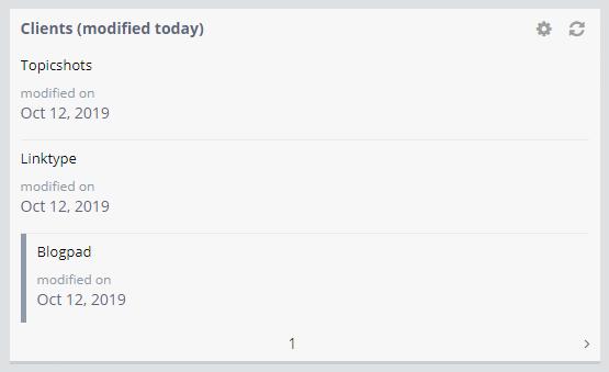 Sorted List widget
