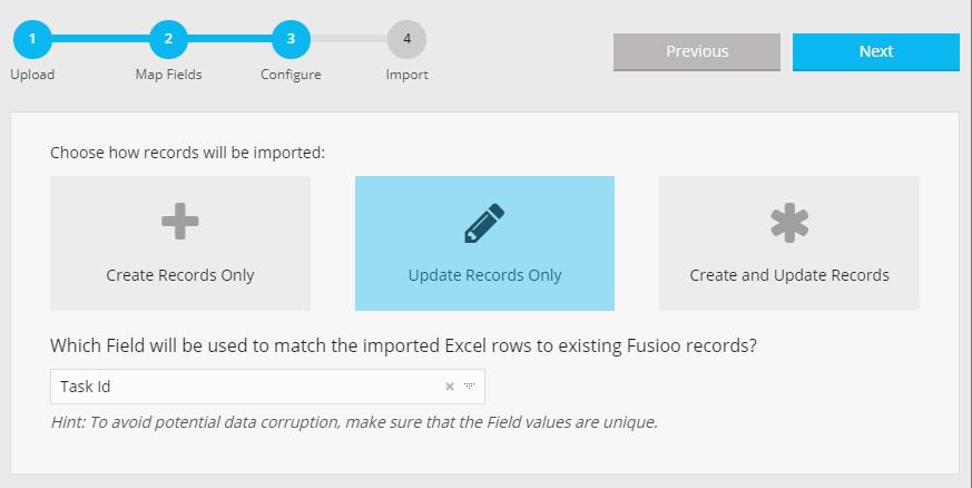 Configure Import