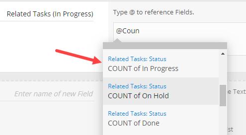 Formula count filter
