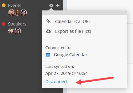 stop calendar sync