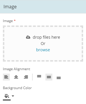 Image Component config