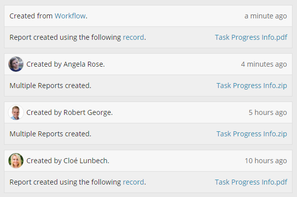 Workflow activity