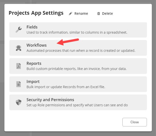 App Workflows