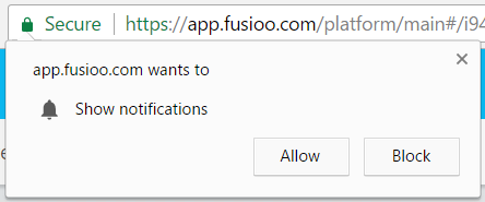 Allow desktop notifications