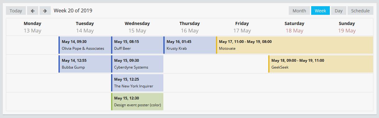 Calendar Week
