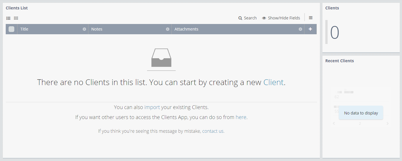 Add the Clients App