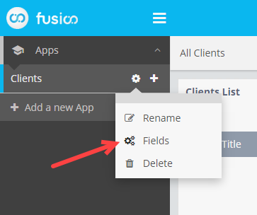 Modify the App Fields