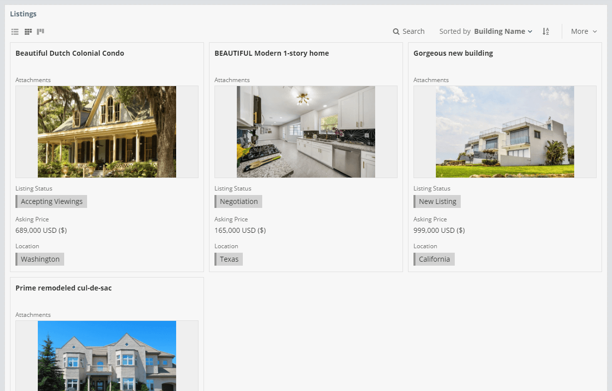 Real Estate Listings Template